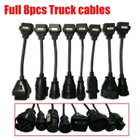 Full 8pcs obd2 truck cable  tcs pro plus multidiag pro+ MVDIAG WOW for delphis vd ds150e FREE SHIP