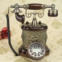 Dickdenton/ Dick Denton authentic European style wooden retro antique craft Vintage telephone Decoration home art rustic phone