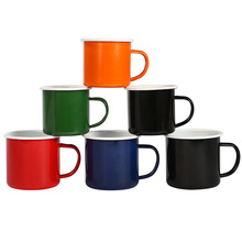 Colorful enamel cup New Quality Enamel Coffee Mug Cup Classic Chinese Tea Cup With Brief One Color