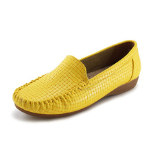 Jabasic  Womens Flats 2019 Multi Color Slip-on Loafers Women Leather Flat Casual Driving Shoes