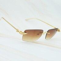 Luxury Sunglasses Carter Crocodilian Style Limited Sun Glass Graceful Mens Eyewear Exquisite Metal Gold Party Sunglass For Women