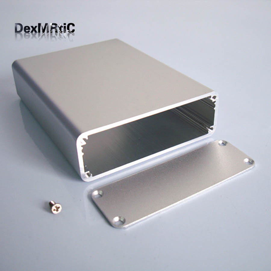 Instrument shell industrial aluminium box electrical Project enclosure DIY 84*28*110mm NEW