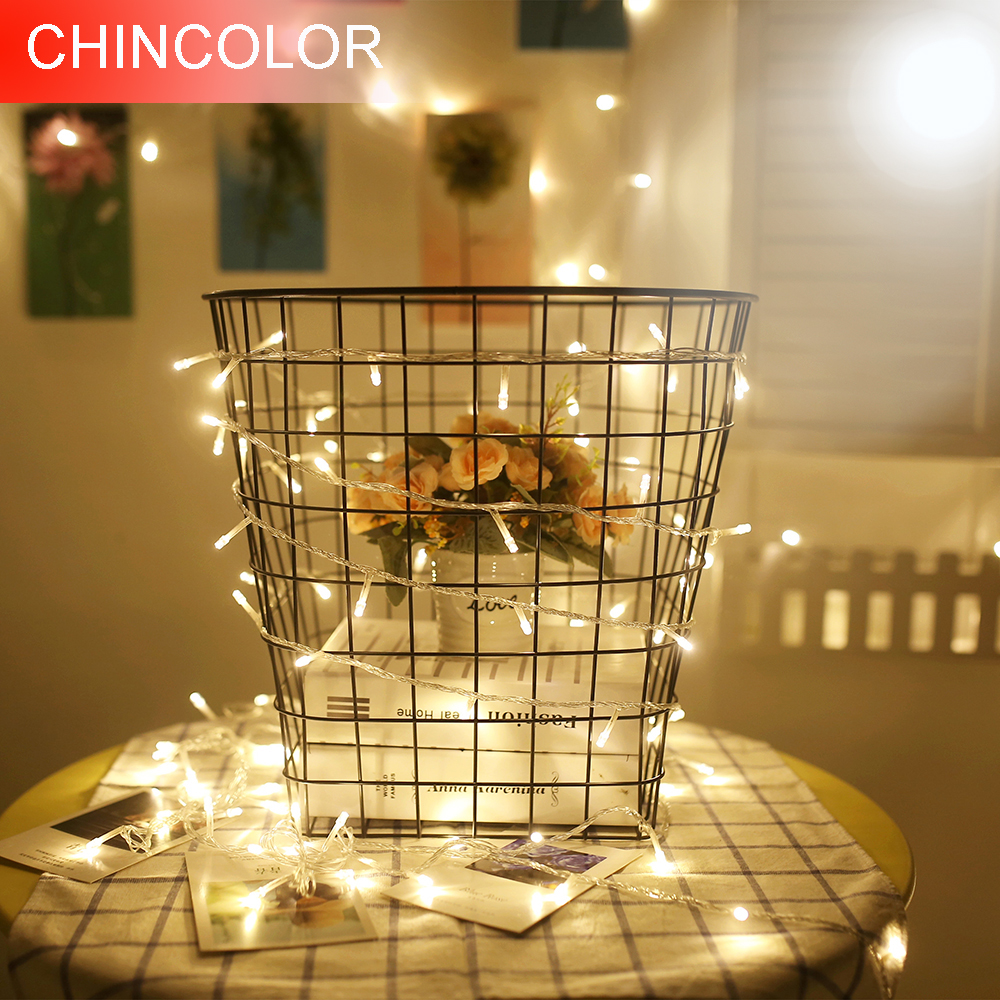 1-5M Led String lights 10-50Leds Todos los colores en stock Con caja de batería para Party Garden Holiday Decor Fairy Mini Lantern HQ