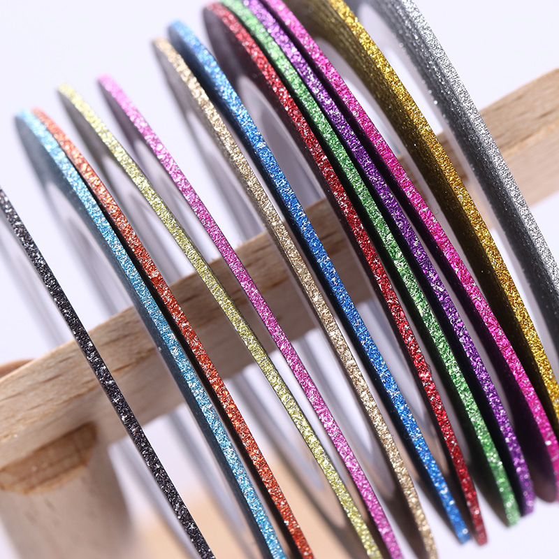 Nail Tape Line Matte Glitter Multi-color 1mm Striping Adhesive Stickers Nail Art Decoration Manicure DIY Tips 13 Pcs