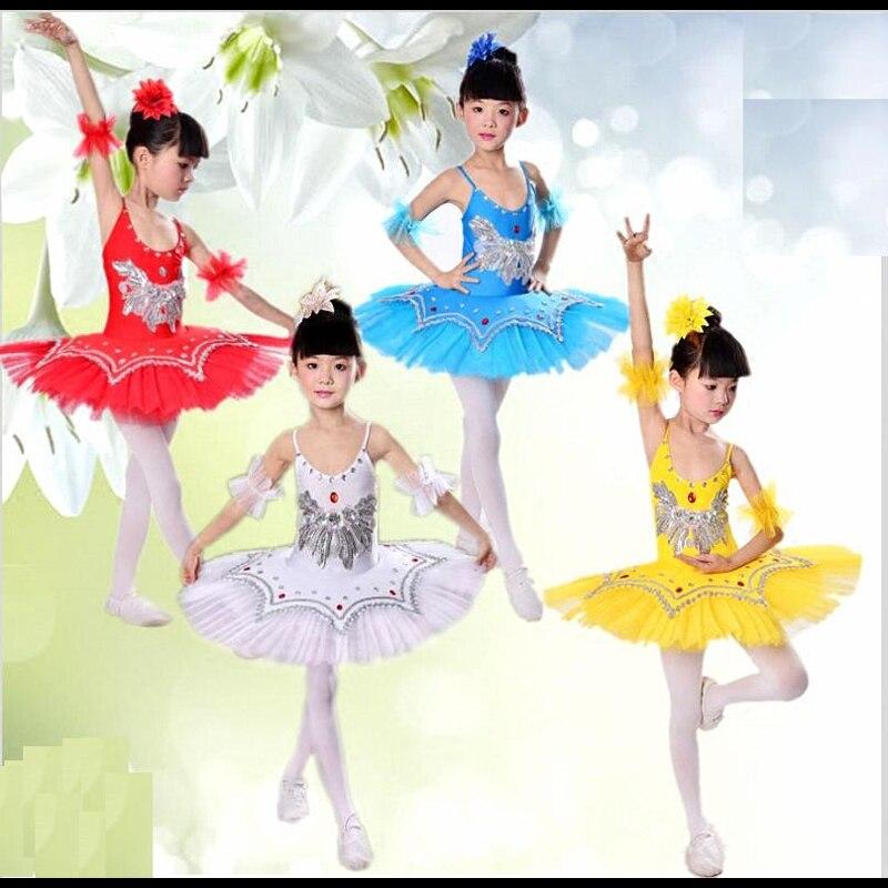NEW Tutu Ballet Dress Girls' Professional Swan Lake Ballerina Dress Skirt Dancewear for woman 4colors