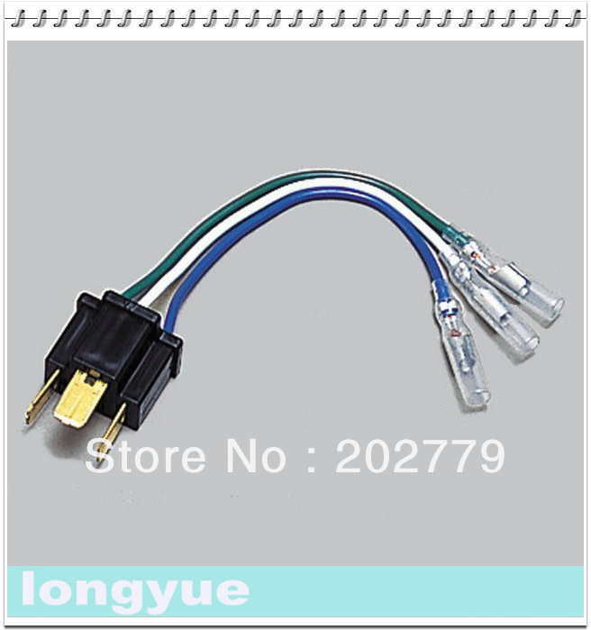 US $5.98 |longyue 2pcs H4 Conversion Connector Car Headlight Wiring on