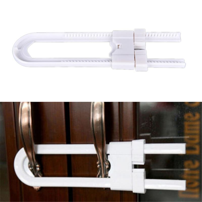 Baby Drawer Lock Children Security Protection Cabinet Toddler Child Safety Lock Refrigerator Window  U Shape Lock  Infant