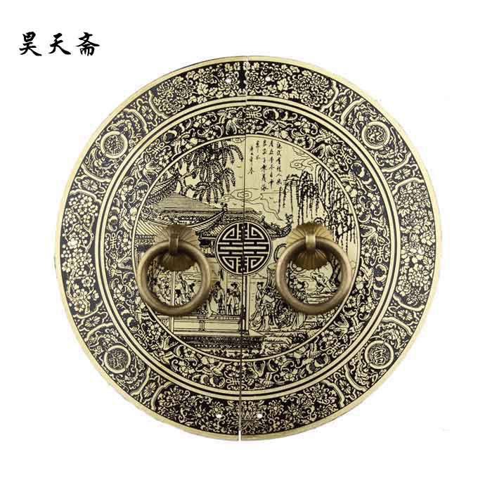 [Haotian vegetarian] Ming and Qing furniture antique copper fittings copper handle HTB-009 18CM [haotian vegetarian] copper door handle copper handicrafts ming and qing antique furniture brass fittings htb 072 href href page 4