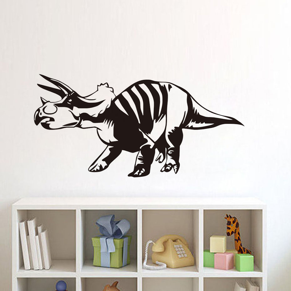 Einiosaurus Wall Sticker For Kids Room Adhesive Waterproof Vinyl Dinosaur  Art Wall Decal For Bedroom Home Decoration Accessories-in Wall Stickers  from Home ...