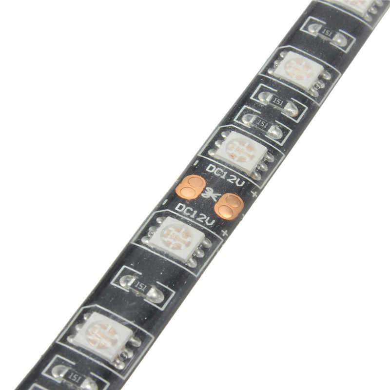 50/100/120/200 cm 5050 LED étanche bande Flexible lumière de fond PC coque d'ordinateur bande adhésive lumière DC12V