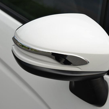 цена на for Honda FIT JAZZ Accessories 2013 2014 2015 2016 Car Styling Car Rearview Side Door Mirror Strip Frame Cover Trim ABS Chrome