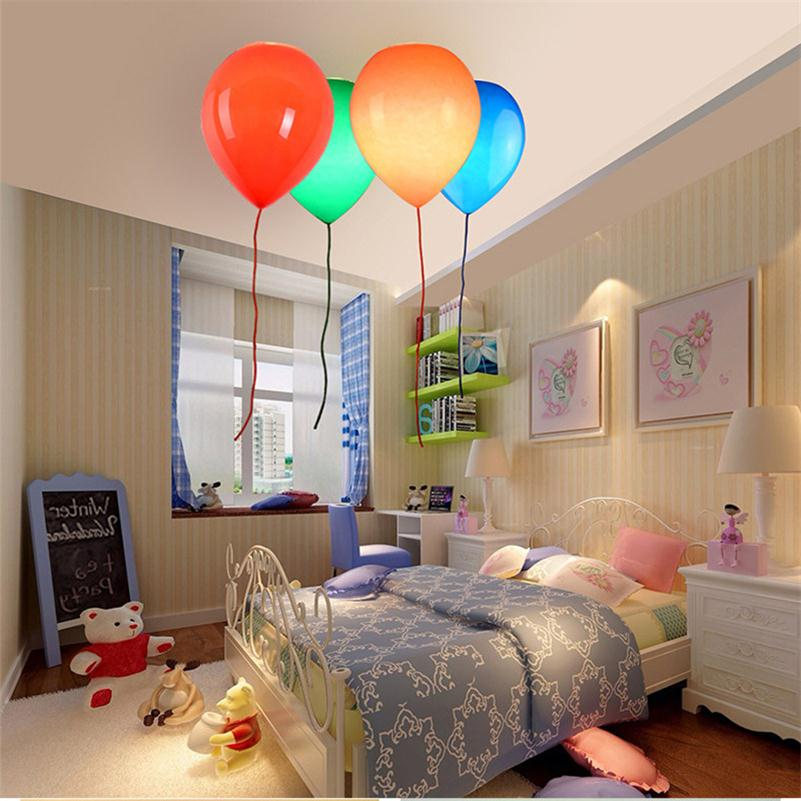 Colorful Glass Balloon Ceiling Lights Lamparas De Techo Lustre Luminaria Abajur Ceiling Lamp Baby Children's Room Home Lighting noosion modern led ceiling lamp for bedroom room black and white color with crystal plafon techo iluminacion lustre de plafond