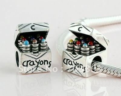 925 sterling silver crayons charm bead 1pcs bead(not including bracelet)