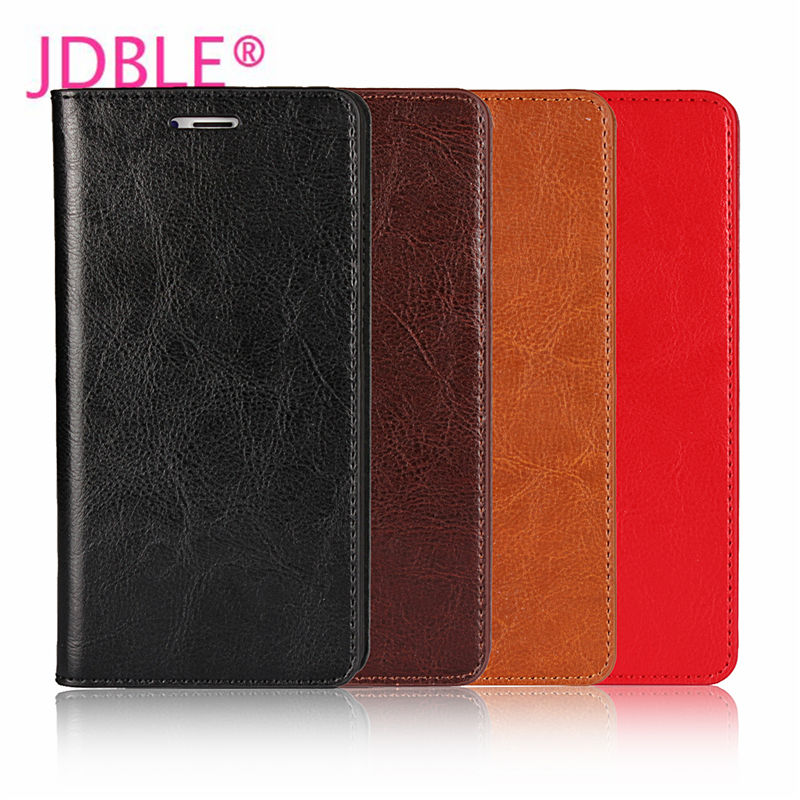 JDBLE Real Genuine Leather Flip Cover For Xiaomi MI5 5X MIX MIX2 MI MAX2 MI NOT Business Cases For REDMI NOTE4X PRO Wallet Capa