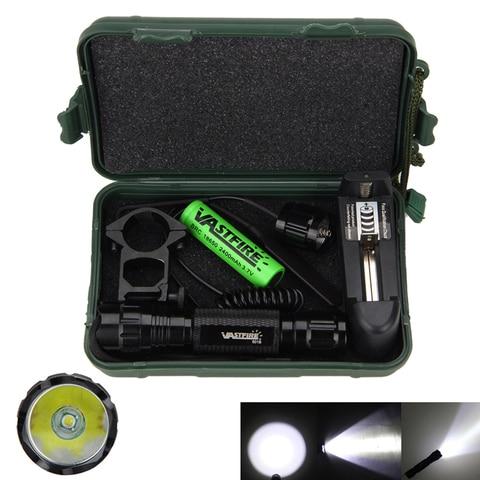 tatico caca rifle tocha 1 modo t6 led lanterna interruptor de pressao remoto 18650 bateria