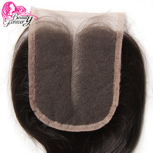 Image 3 - Beauty Forever Peruvian Lace Closure Hair Body Wave Remy Human Hair 4*4 Middle Part Closure 120% Density Natural Color