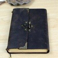 Vintage Antike Leder Journal Handmade Büffel Reisetagebuch-Klassische Weichem Leder Gebunden Schriftlich Notebook