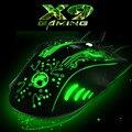 2016 nueva imice-estone x9 5000 dpi colorful lol gaming mouse 6 botones óptico usb con cable de ordenador y profesional los ratones de juego