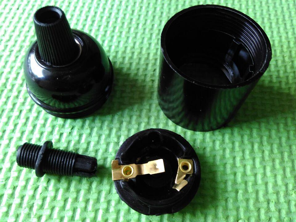 E27 bakelite lampholder e27 black lamp socket e27 pendant light bulb holder 50 pcs lot