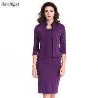 Women Dresses Hot Sale Celeb 2 PCS Vintage Pencil Bodycon Dresses S M L XL XXL