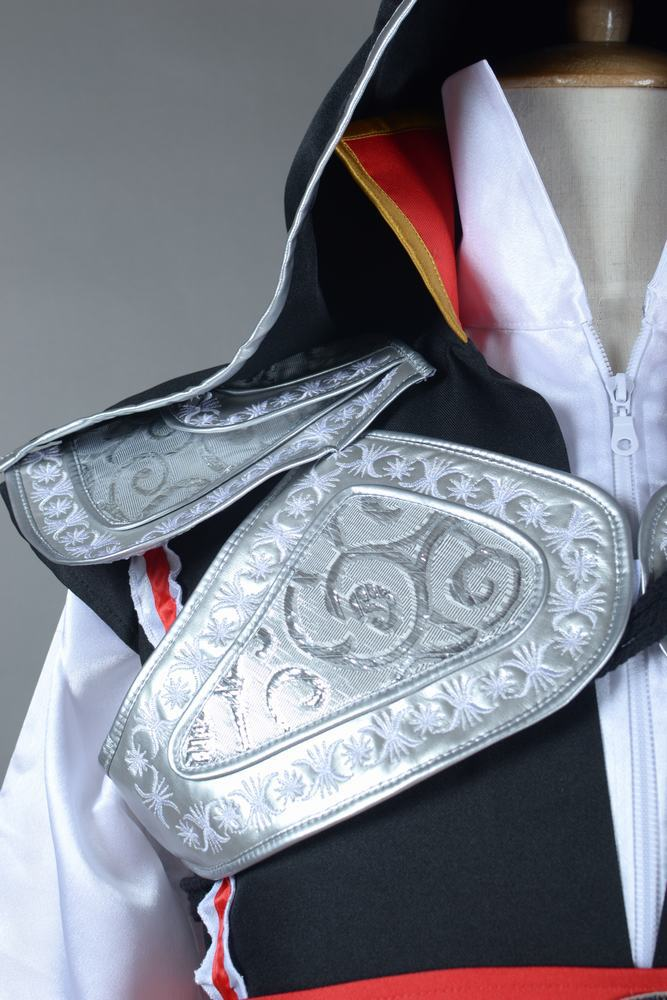 Assassins Creed 2 Ezio Costume Outfit Halloween Cosplay Costume Black Version full set Custom Made