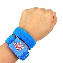 Anti Statische Armband Elektrostatische Draadloze Draadloze Verstelbare Esd Ontlading Kabel Wrist Band Strap Hand Met Spare Polsbandje