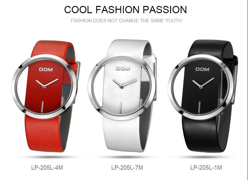 DOM: Reloj de pulsera de lujo para mujer 12
