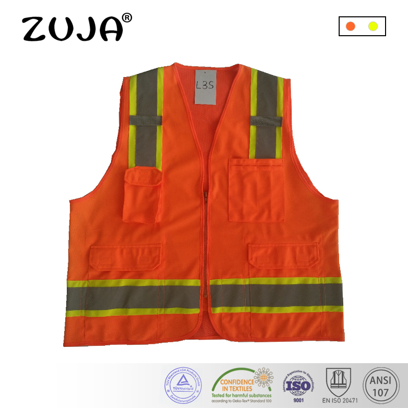 High Visibility Reflective Workwear Vest wiht PocketsHigh Visibility Reflective Workwear Vest wiht Pockets