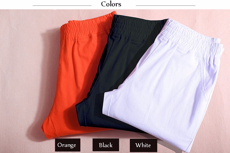 Women Ankle Length linen pants casual pencil pants sport pants Slim solid spring summer autumn trousers for women plus size A375 a