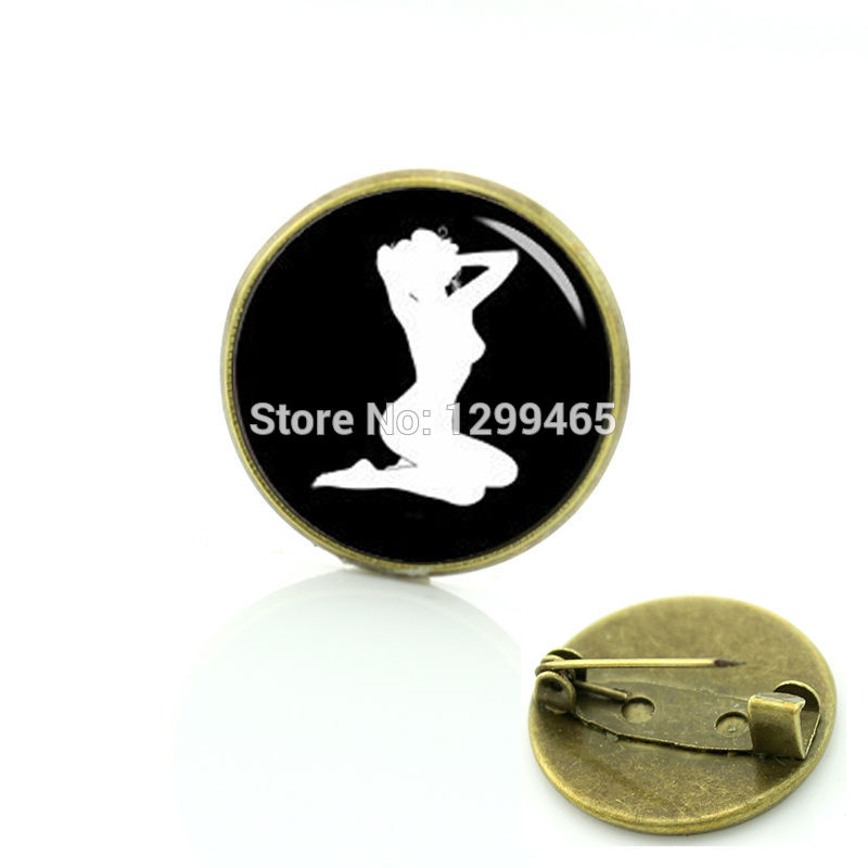 2017 Limited Sale Glass Pin Sex Silhouette Brooches Decoration Male Dancing Girl Class Simple Badge Your Finish Choe C 1344 ...