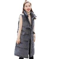 2019 Winter Fashion New Cotton Vest Coat Female Gold Velvet Vest Korean Style Down Cotton Padded Sleeveless Vest Outwear CM628