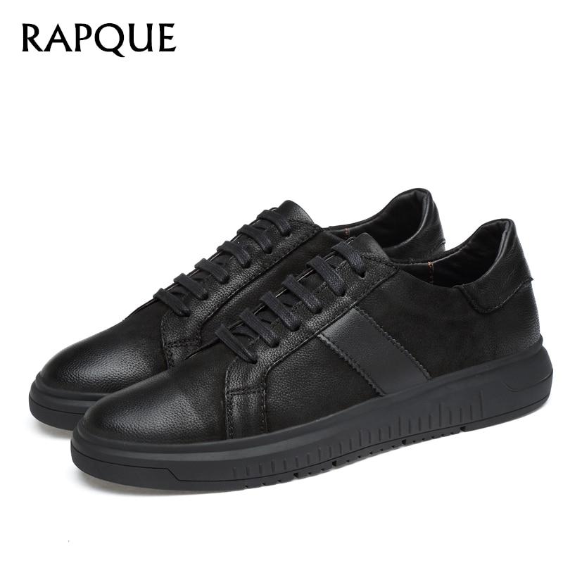 Heren casual schoenen Leer Echt solide Schoen Klassiek Rustig - Herenschoenen