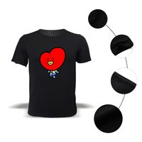 K-pop Summer Cute T-shirt Bangtan Boys Short Sleeve Fashion love yourself T-shirt Cartoon Casual Popular Idol Jimin Tshirt