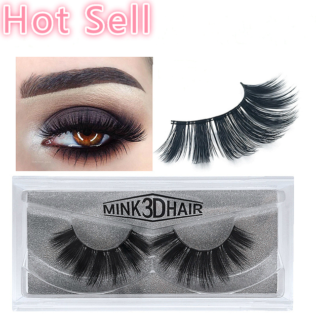 58803794494 Wholesale Handmade Mink Eyelashes Mink 3D Hair Lashes Natural False Eyelashes  Mink Eyelashes 1 pair in a box 100pairs. Price: