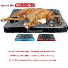 سرير كلب وسادة ل كلب كبير أكسفورد القماش جرو تنفس مقاوم للماء بيت الكلب وسادة عش الحيوانات الأليفة أريكة بطانية حصيرة للحيوانات