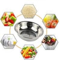 Acier inoxydable Passoire S-XL Taille Micro Perforé Crépine Alimentaire Prix Bas Haute Qualité Forte Poignées Base Au Lave-Vaisselle