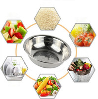 Stainless Steel Colander S XL Size Micro Perforated Food Strainer Low Price High Quality Strong Base