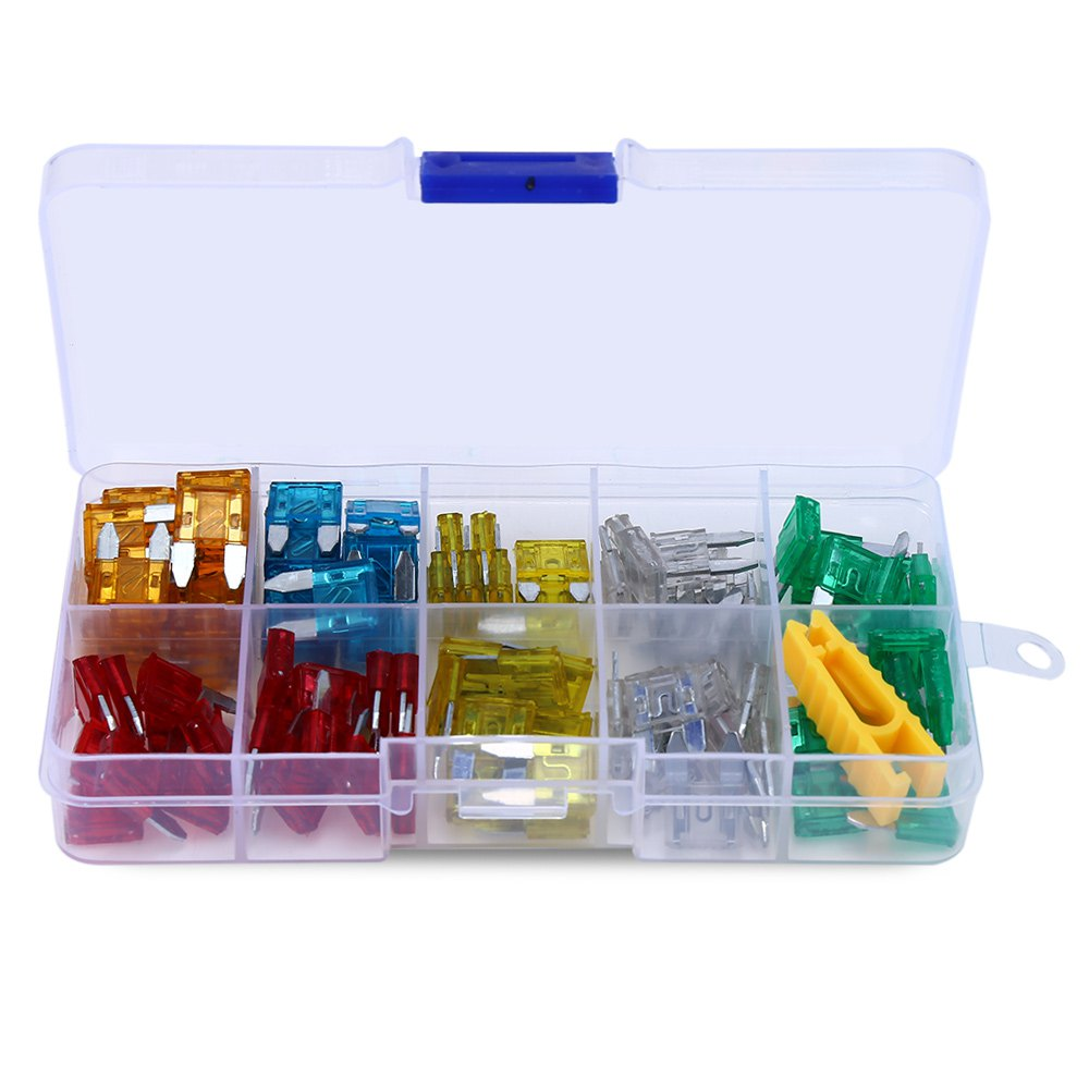 compare prices on vehicle fuse box online shopping buy low price 120pcs standard car mini blade type fuse assortment kit 6 sizes auto 5amp to 30amp vehicle