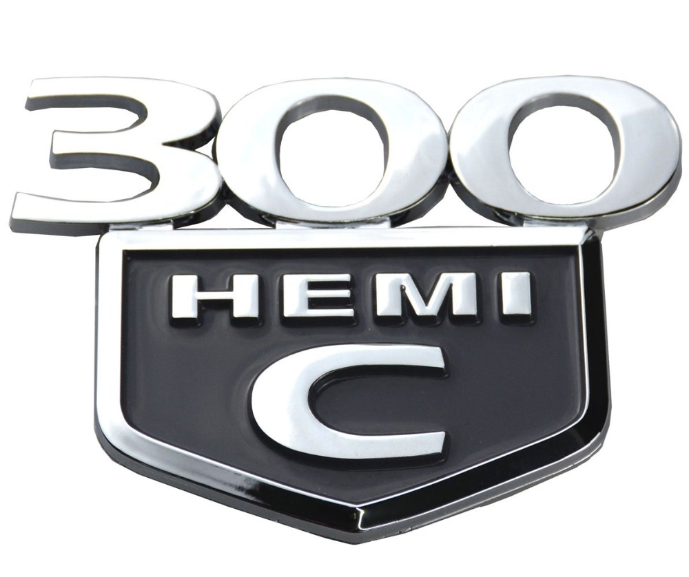 Black 2005 2006 2007 2008 2009 2010 Chrysler 300c: 1PC 300C HEMI Emblem Badge Trunk Decklid For Chrysler 300