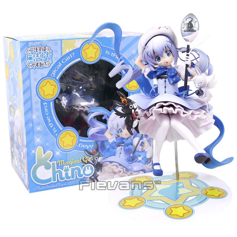 Anime Is the order a rabbit? Kafuu Chino Magical Girl Chino 1/7 Scale PVC Painted Figure Collectible Toy 21cm 3g mifi router vodafone huawei r201 hsupa 3g wifi router tri band 900 1900 2100 7 2mbps free shipping