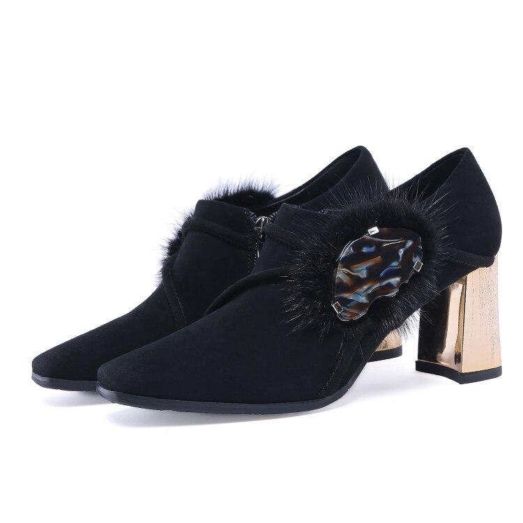 Llegada 3 Tamaño Zapatos De Nueva Fiesta Tacones Mujer Dedo Mujeres Black Estilo 5 Yifsion Plus Del Negro Elegante Cuadrado 10 Pie Alta D0890 Bombas 5HqxwUf6U