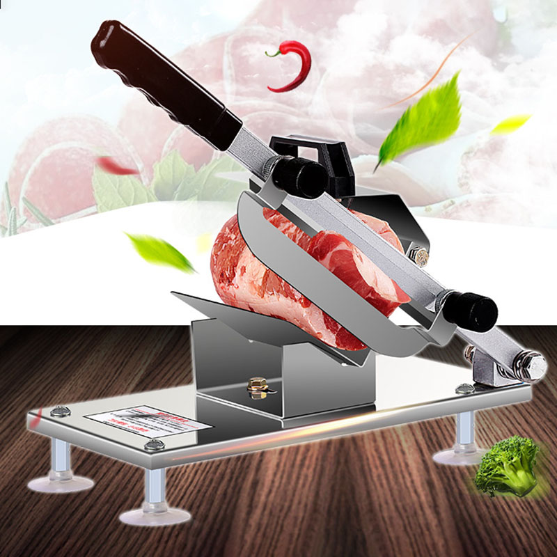 Beef and Mutton Slicer Manual Meat Machine Home Cut Fat Cattle Mutton Roll Slicer Frozen Meat Grinder Planing Machine