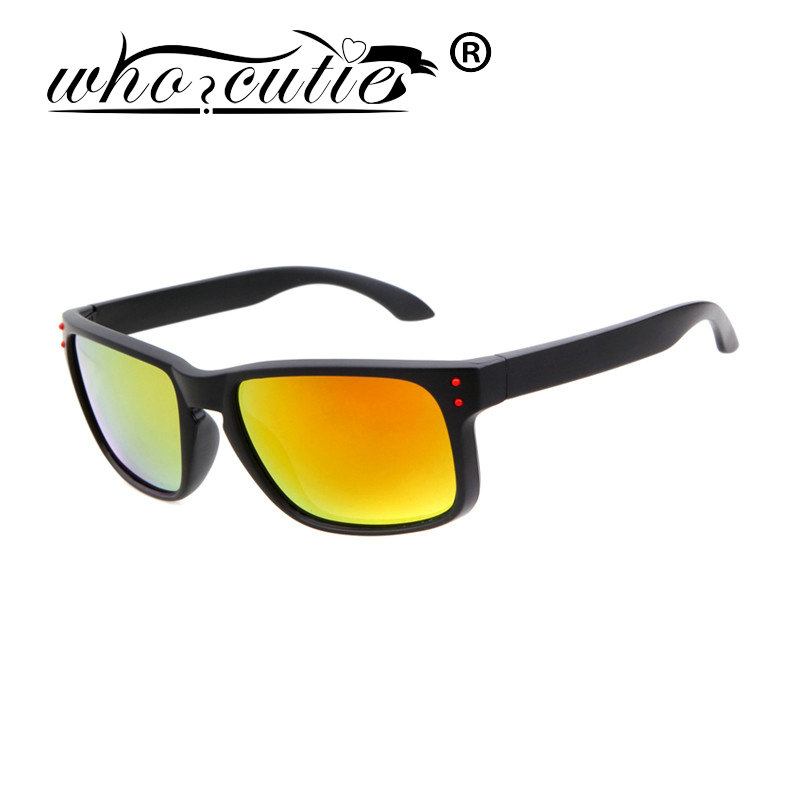 WHO CUTIE 2016 New Sunglasses Men Acetate Eyewear Fashion UV400 Shades Male High Quality Points Sun Glasses Coating Sunglass