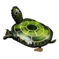 ASDS Handmade Imitation Leather Hand Bag Simple Fashion Personality Cute Cartoon Turtle Purse Color Green