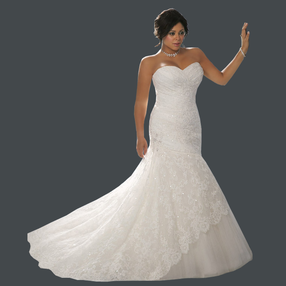 Top Online Mermaid Sweetheart Bridal Gown Sleeveless