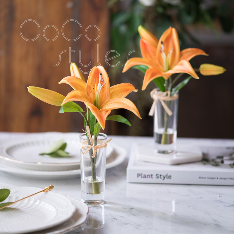 Cocostyles Personalized Romantic Dreamlike Flower Glass Trumpet Vase