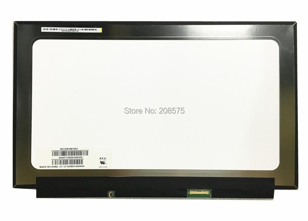 Free Shipping NV133FHM-N52 NV133FHM N52 Laptop Lcd Screen EDP 30 pins 1920*1080 IPS free shipping b140han03 4 laptop lcd screen 1920 1080 edp 30 pin ips