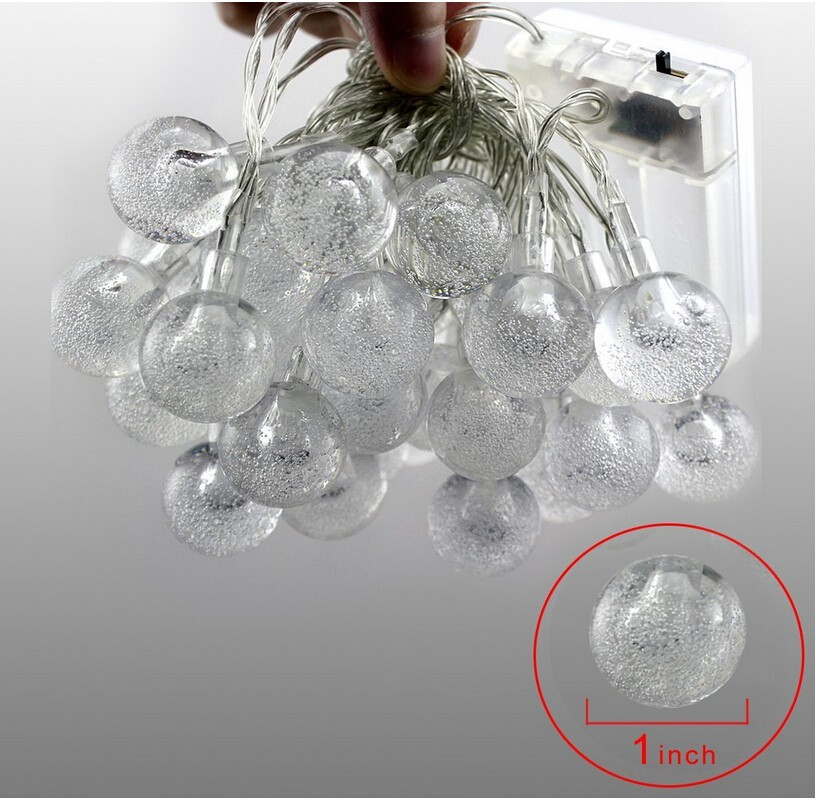 2M / 3M LED Cherry Crystal Bubble Balls Batteri Operated String - Ferie belysning - Bilde 5