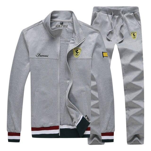 Long Sleeve Stand Collar Sweatshirt Sports Set  3