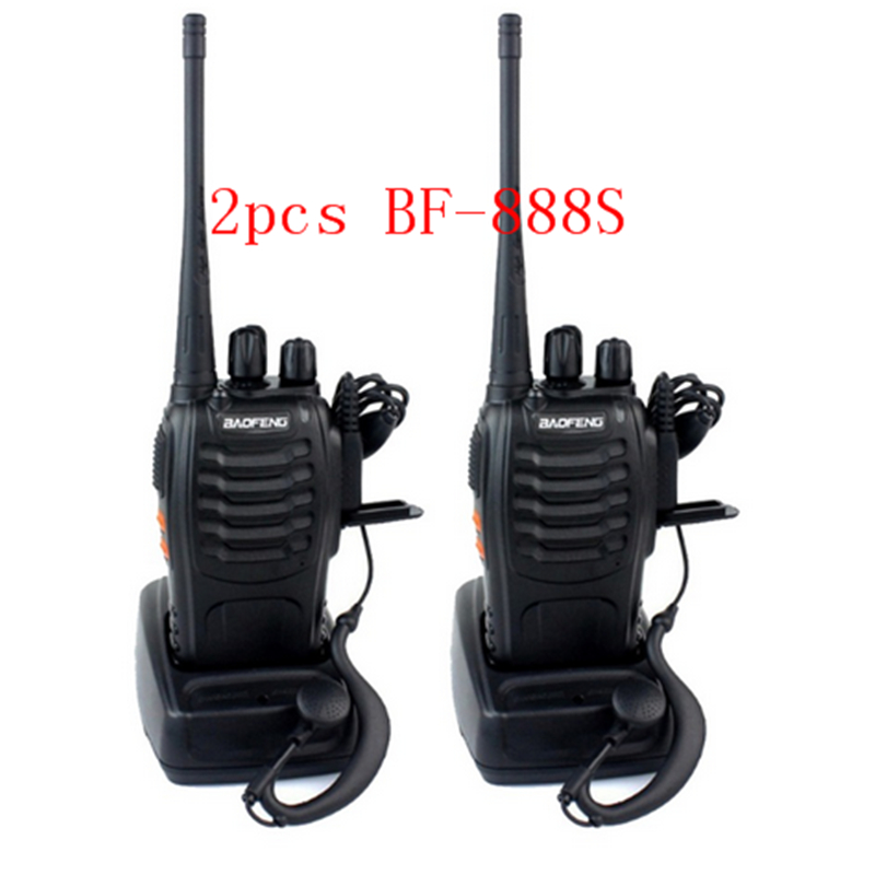 2PCS walkie talkie BF 888S VHF UHF FM transceiver baofeng portable CTCSS pofung 888s two way